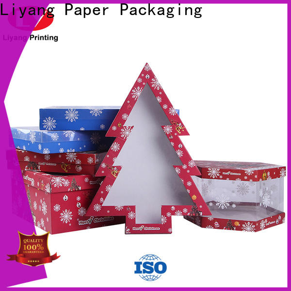 Liyang Paper Packaging custom shaped boxes fast delivery for christmas