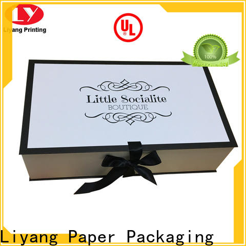 Liyang Paper Packaging foldable clothing boxes custom logo for wedding dress