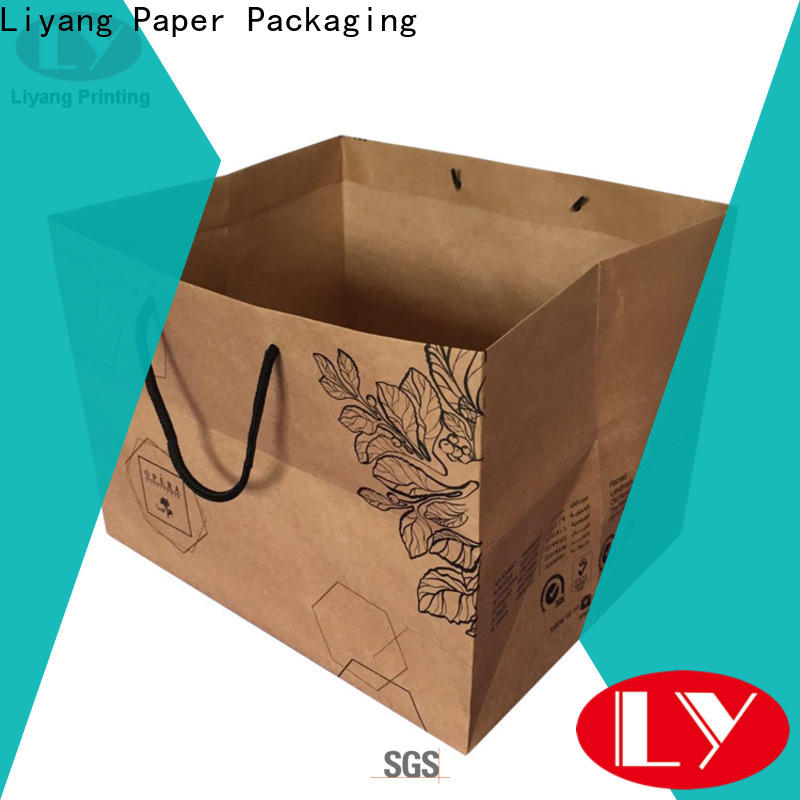 Liyang Paper Packaging paper shopping bags bulk supply for cloth