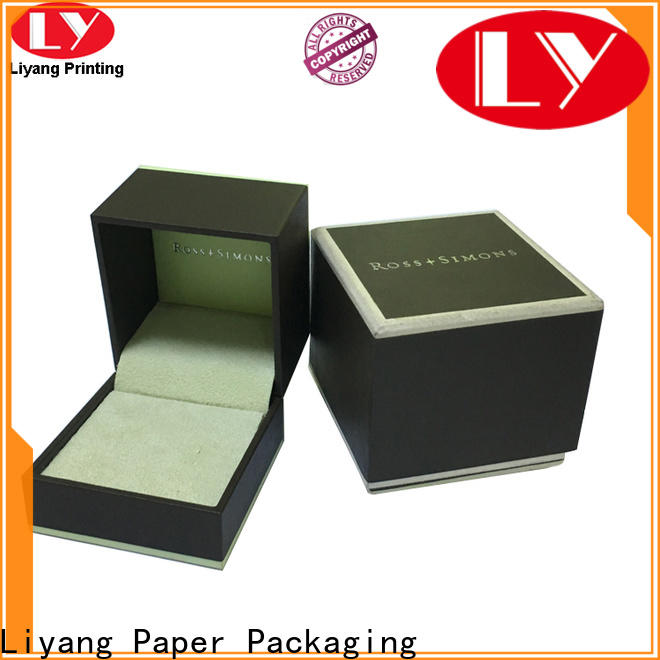 Liyang Paper Packaging bulk supply cardboard jewelry boxes free sample for ring