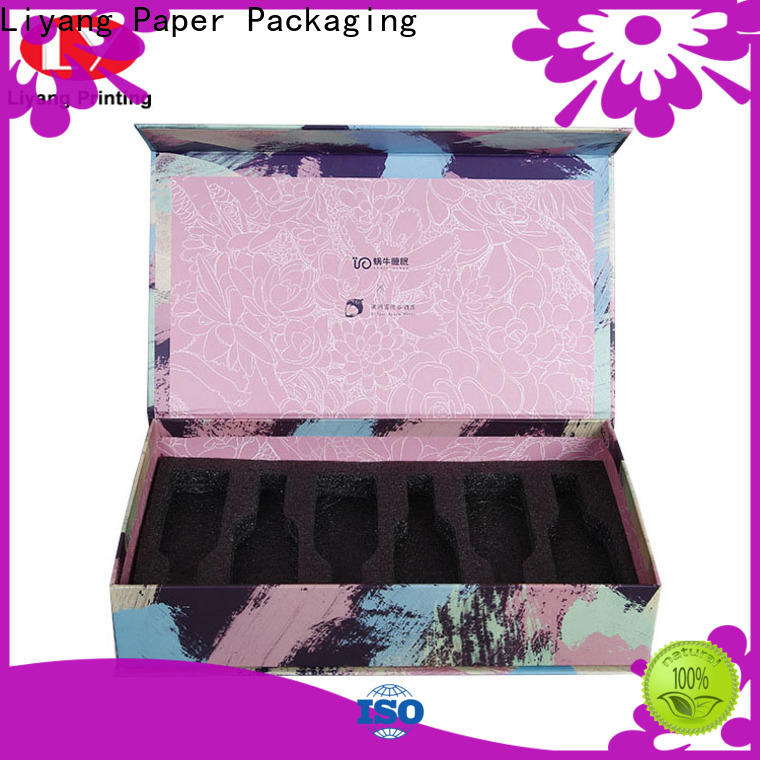 Liyang Paper Packaging factory direct supply cosmetic gift box bulk production free sample