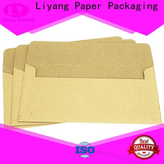 Liyang Paper Packaging colored envelopes factory supply with hot stamping