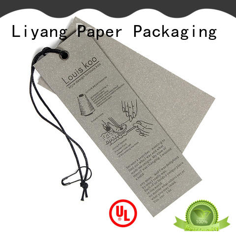 Liyang Paper Packaging custom color personalized tags catalog company