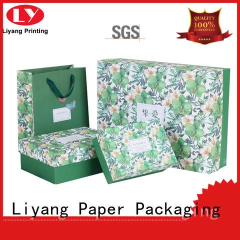 purple custom cosmetic boxes free sample for nail polish Liyang Paper Packaging