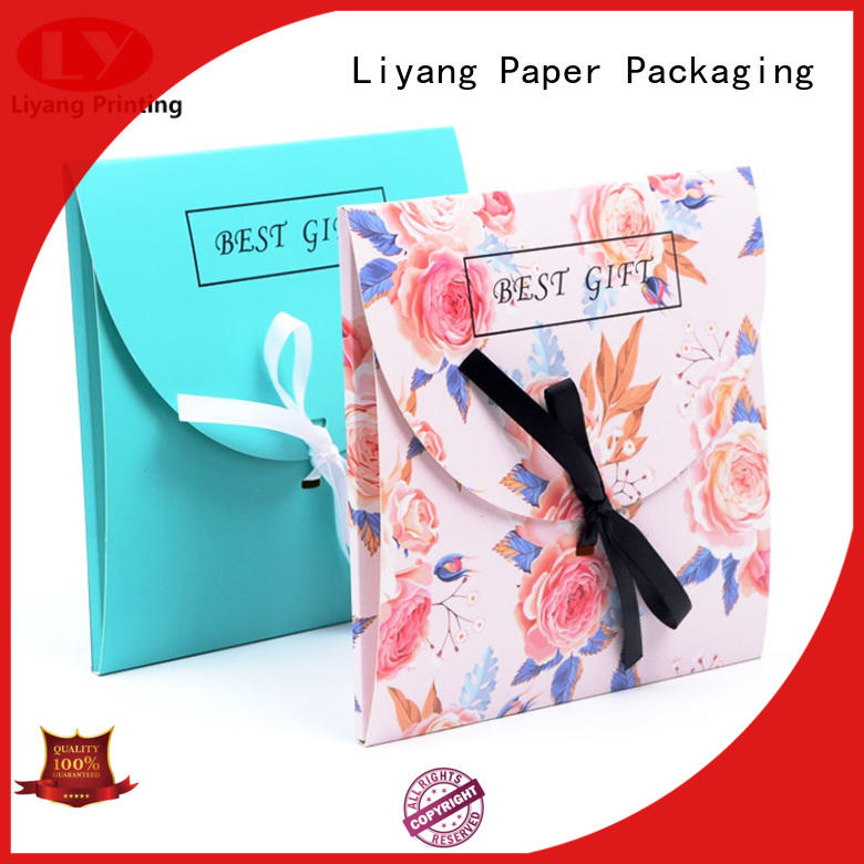 Liyang Paper Packaging envelope suppliers factory supply with hot stamping