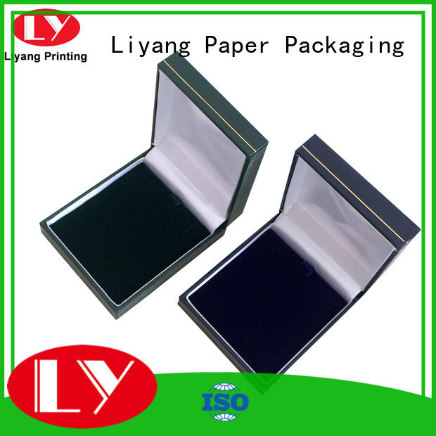 leather jewelry packing box pull for ring Liyang Paper Packaging