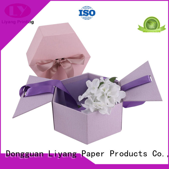 pink cardboard flower boxes graphic artwork for delivery Liyang Paper Packaging