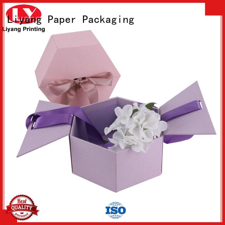 Liyang Paper Packaging custom florist flower boxes handle for gift packing