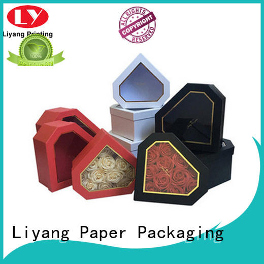 packaging round flower box graphic artwork for cosmetics Liyang Paper Packaging