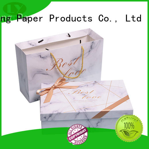 Liyang Paper Packaging white cardboard gift boxes fashion design for chocolate