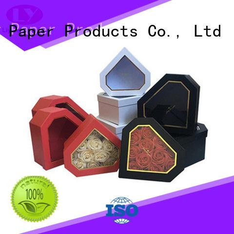 handle flower gift box display for rose Liyang Paper Packaging