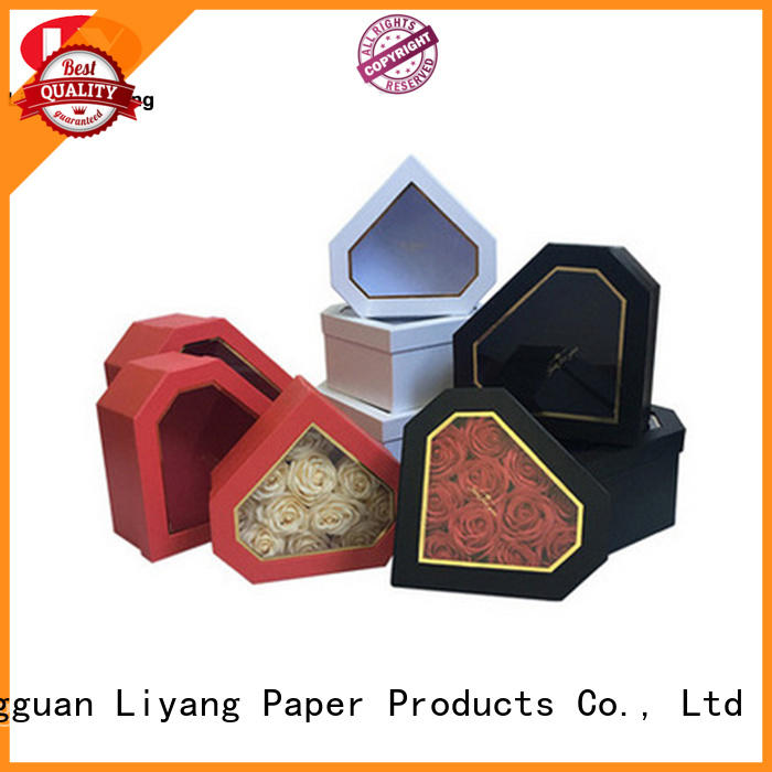 Liyang Paper Packaging paper flower box distinctive designs for rose