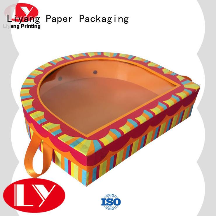 Custom Printed Paper Gift WIndow Box with Handle