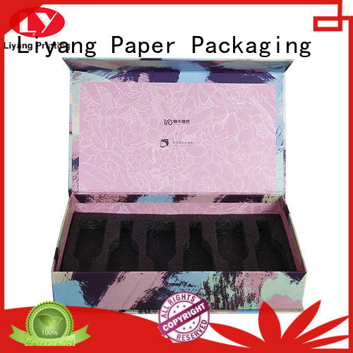 Liyang Paper Packaging pink cardboard cosmetic box factory price for makeup