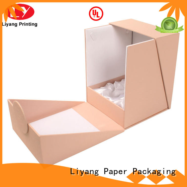 clear window cosmetic gift box paper for brush Liyang Paper Packaging