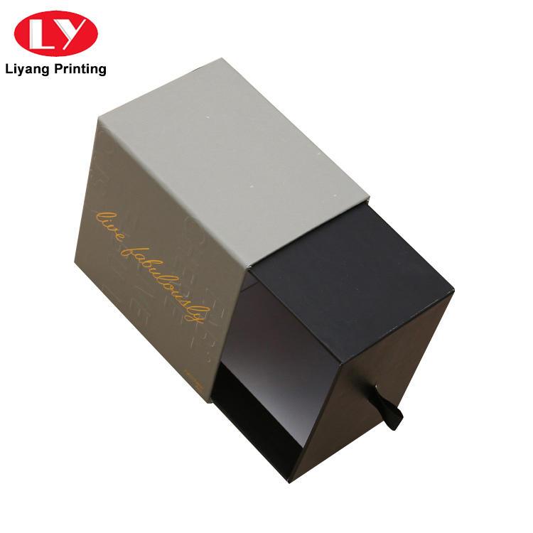 China Manufacturer Elegant Cardboard Paper Sliding Drawer Box for Gift Packing-3