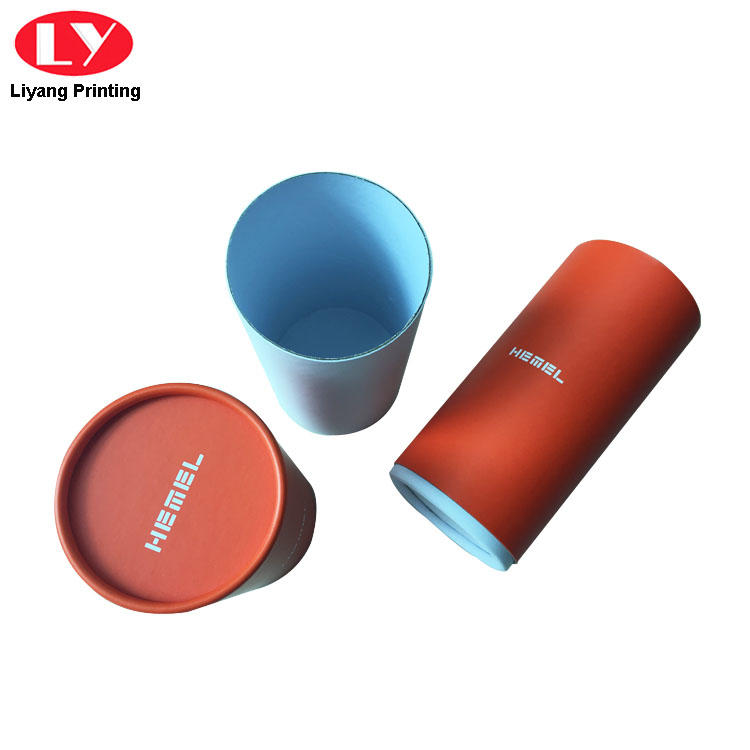 Custom Logo Paper Round Candle Packaging Box with Lid-2