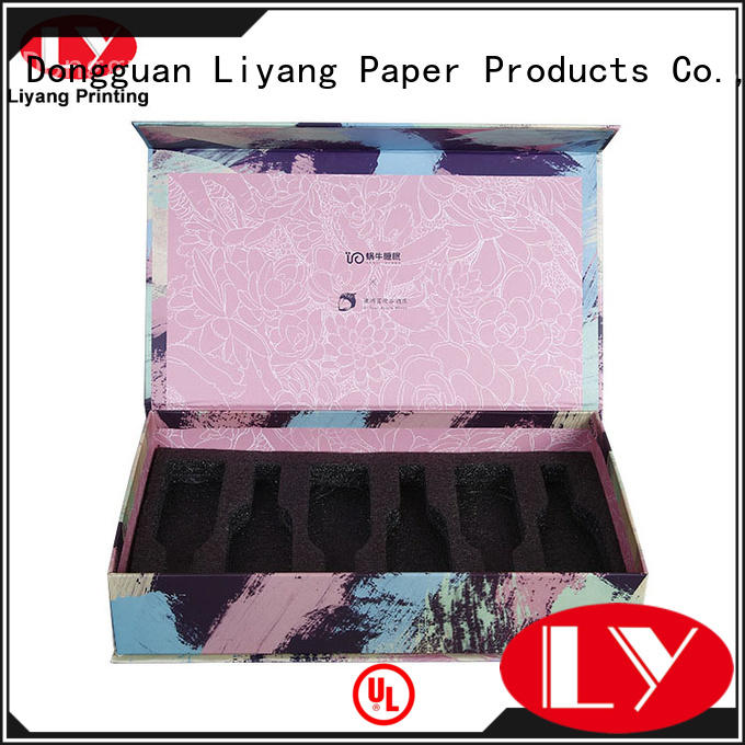 Liyang Paper Packaging ribbon cosmetic paper box for wholesale for lipstick