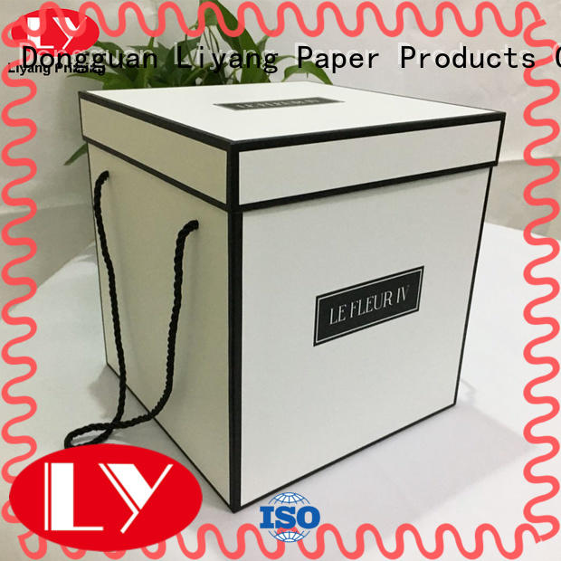 free sample cardboard flower boxes display round shape for cosmetics