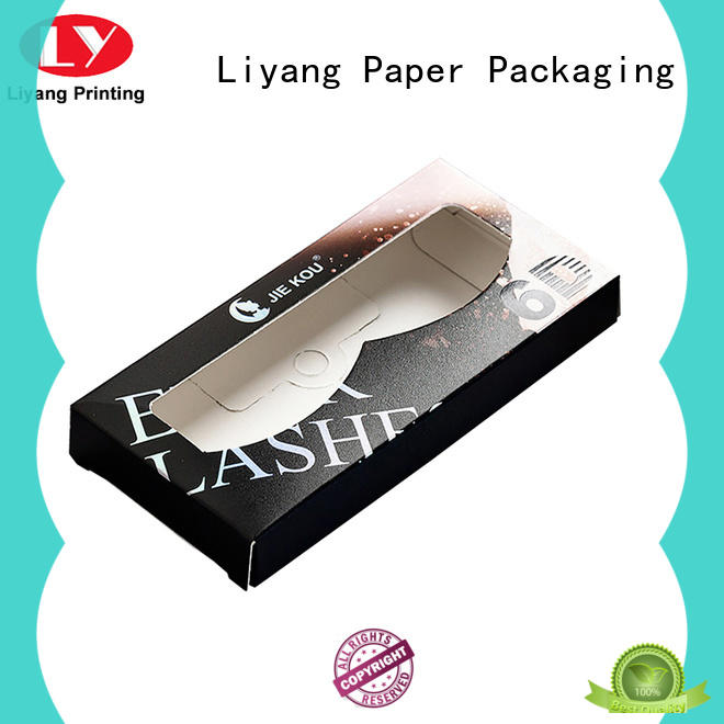 Liyang Paper Packaging folding luxury beauty box clear window for nail polish