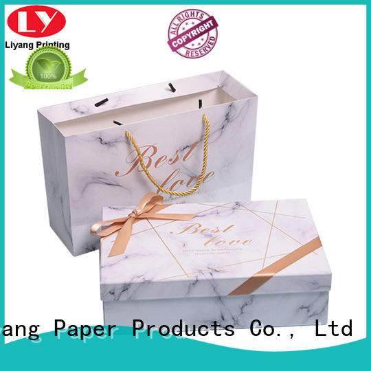 rigid gift box with lid fast delivery for christmas