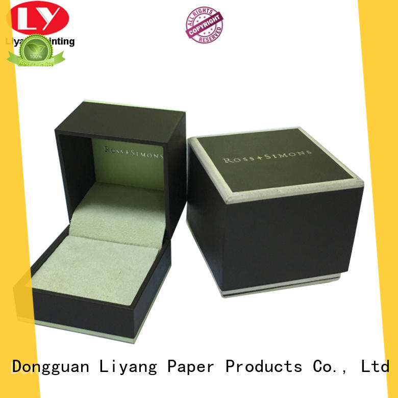 luxury cardboard jewelry boxes wholesale free sample for small bracelet Liyang Paper Packaging