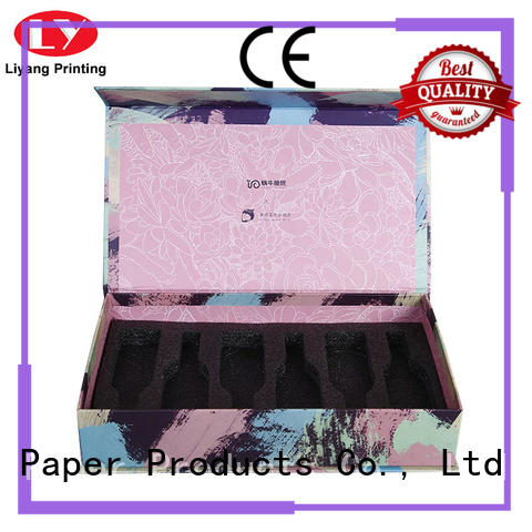 Wholesale logo printed cardboard magnetic closing perfume bottle box