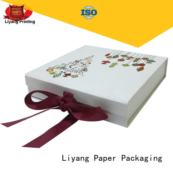 Liyang Paper Packaging rigid cardboard gift boxes paper for christmas