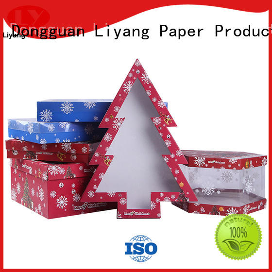 Liyang Paper Packaging ribbon bow custom shaped boxes at discount for packaging