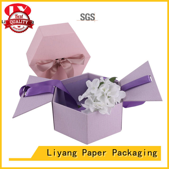 handle paper flower box square shape for cosmetics