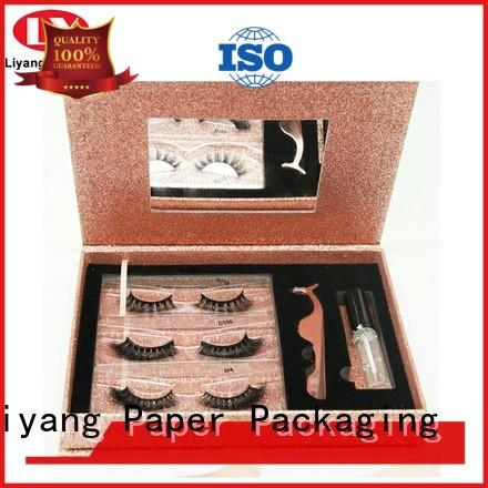 ivory cardboard box for cosmetic handle for makeup Liyang Paper Packaging