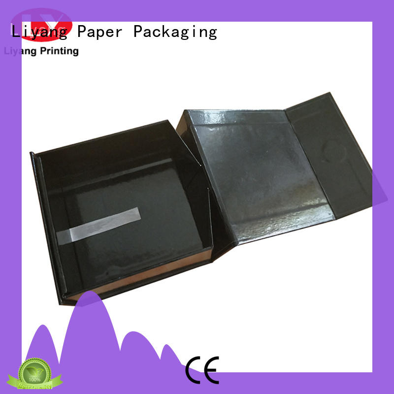 Custom Black Folding Magnetic Closure Collapsible Rigid Boxes Flat Pack Gift Boxes
