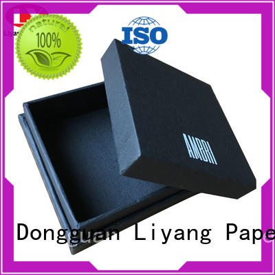 black cardboard jewelry boxes wholesale ODM for small bracelet Liyang Paper Packaging
