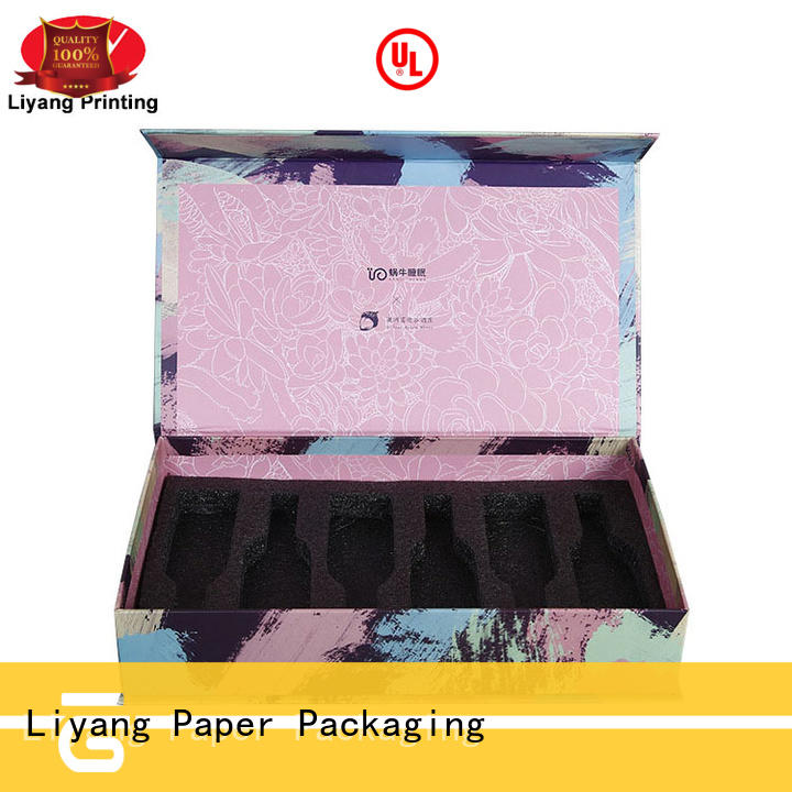 ivory cardboard cosmetic box high quality for packaging Liyang Paper Packaging