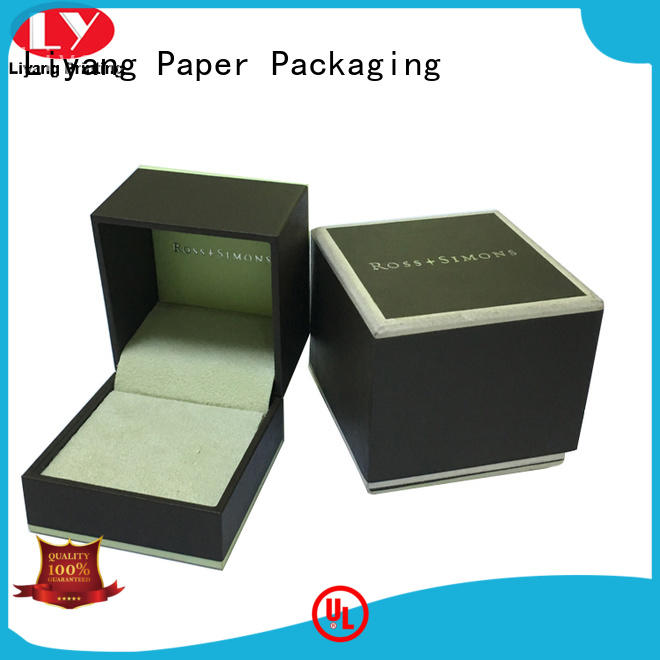 touch cardboard jewelry gift boxes ODM for small bracelet Liyang Paper Packaging