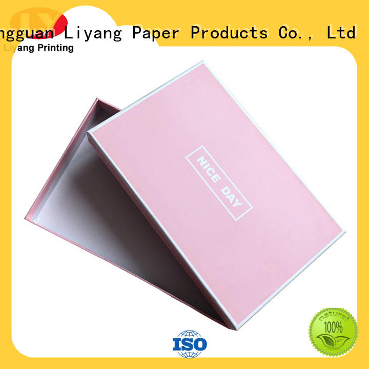 pvc cardboard gift boxes with lids bow for bakery Liyang Paper Packaging