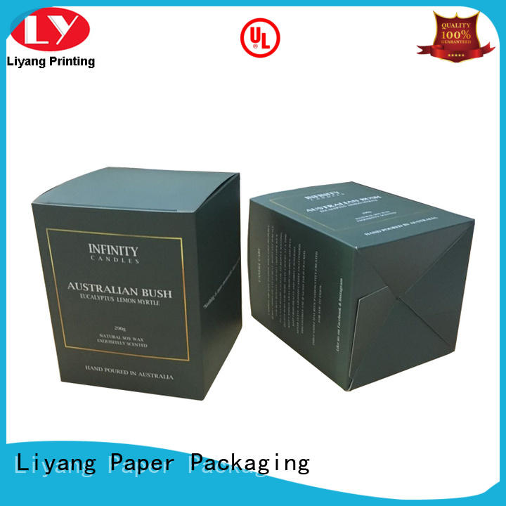 luxury candle box paperboard for display Liyang Paper Packaging