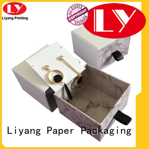 Liyang Paper Packaging black custom paper jewelry boxes bulk production for gift