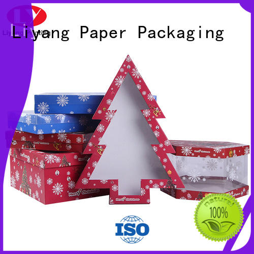 Liyang Paper Packaging ribbon bow special box ODM for christmas