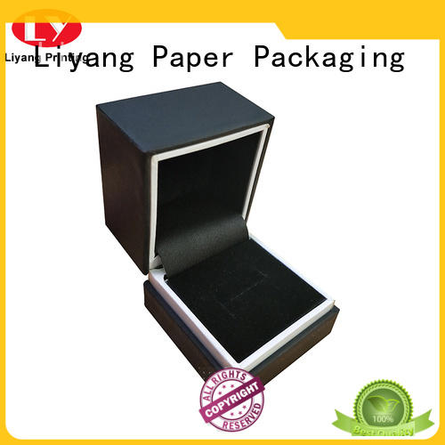 Liyang Paper Packaging ribbon jewelry gift boxes bulk free sample for small bracelet