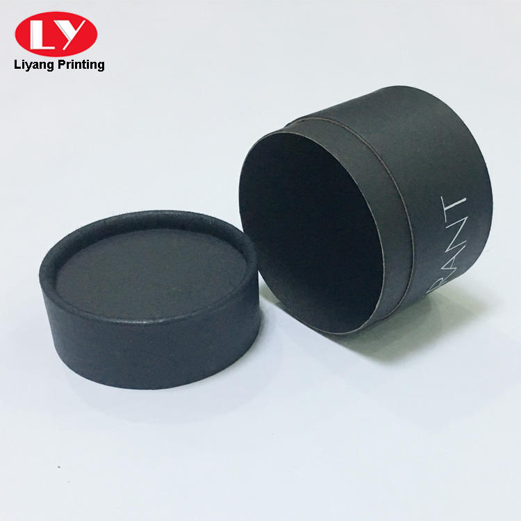 black tube box with lid-2