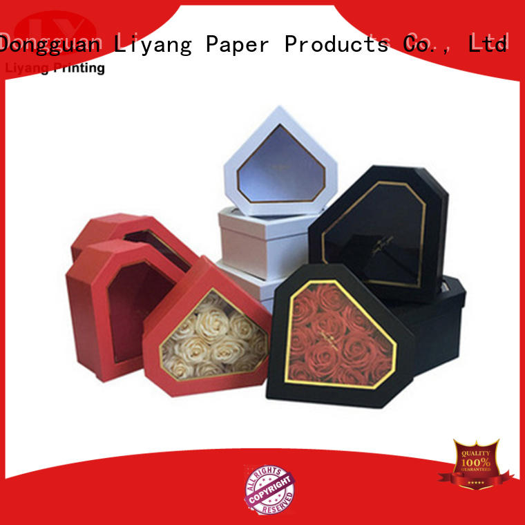 Liyang Paper Packaging high-quality custom flower box handle for gift