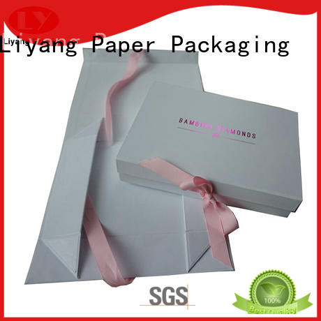 Liyang Paper Packaging silver custom gift boxes bulk production for chocolate