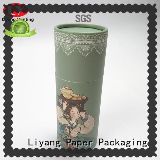 Liyang Paper Packaging small round box logo printed for retail shop