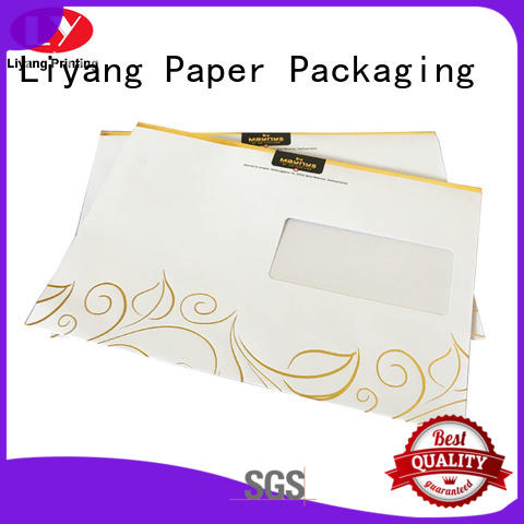 Liyang Paper Packaging ODM presentation folders printing two pockets for paper tag
