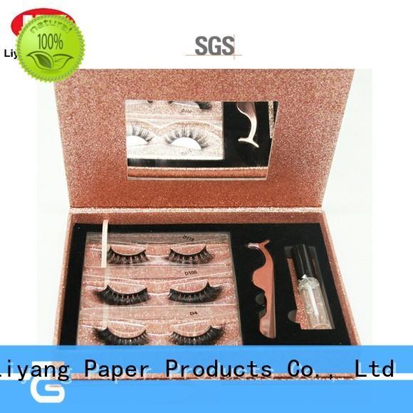 square paper box for cosmetic custom for brush Liyang Paper Packaging