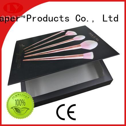 Custom luxury cosmetic cardboard makeup brush packaging box
