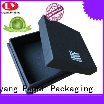 Liyang Paper Packaging leather cardboard jewelry packaging OEM for gift
