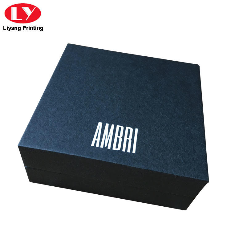 black cardboard jewelry boxes wholesale ODM for small bracelet Liyang Paper Packaging-3