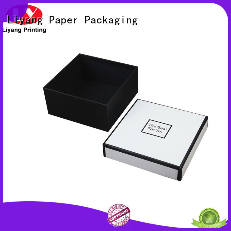 Liyang Paper Packaging black empty gift boxes popular for chocolate